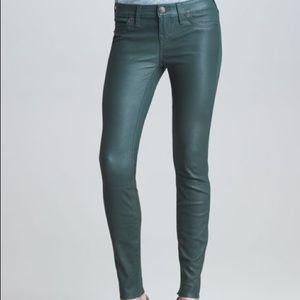 True Religion Casey Leather Skinny Jeans sz 26